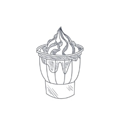 Sundae Hand Drawn Sketch vector image vector image