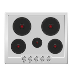 surface for electric stove 01 vector image