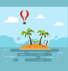 the sea island beach vector image vector image
