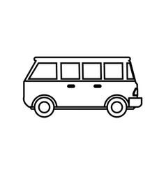 vintage van vehicle vector image