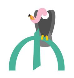 Vulture and azerbaijani manat symbol money vector