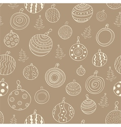 Christmas seamless pattern with balls vector