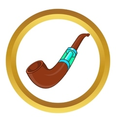 Electronic smoking pipe icon vector image