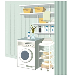 Laundry room interior vector