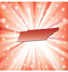 Red Tennessee vector image