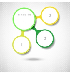 Colorful round diagram metaball infographics vector