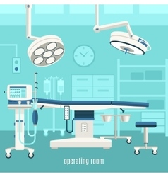 Medical operating room design poster vector