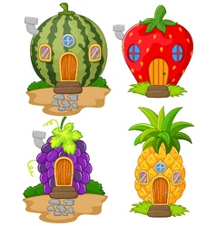 Cartoon variety of home fruit vector