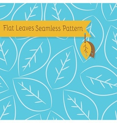 White leaves seamless pattern on blue background vector