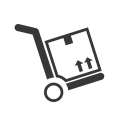 Package silhouette delivery design vector