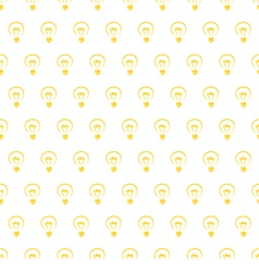 Background with yellow light bulbs on white vector image
