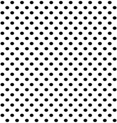 Black dots vector image