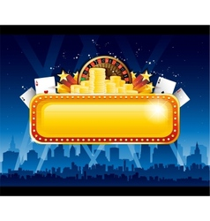 Casino background city vector