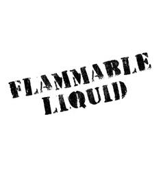 Flammable liquid rubber stamp vector