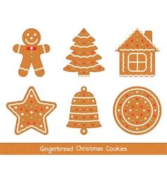 Gingerbread christmas cookies vector