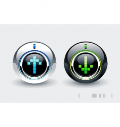 high tech buttons vector image vector image