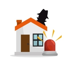 house thief insurance protection design vector image