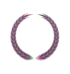 Laurel wreath sign colorful icon shaked vector