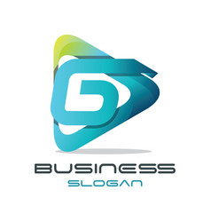 letter g media logo vector image vector image