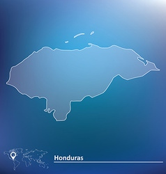 Map of Honduras vector image