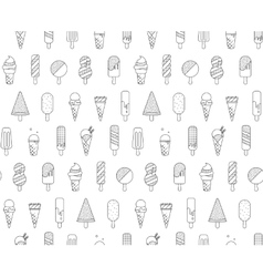 Pattern Memphis Ice Cream vector image