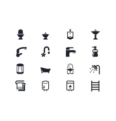 Plumbing icons Lyra series vector image vector image