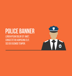 police logo and banner with officer vector image vector image