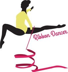Ribbon Dancer vector image