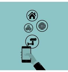 Social media design media icon technology vector