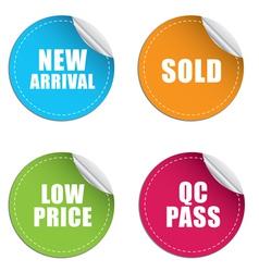 sticker label price vector image