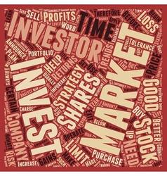Stock market strategies for investors text vector