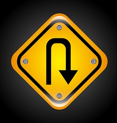 u turn design vector image