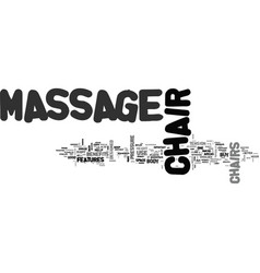 What to look for in a good home massage chair vector