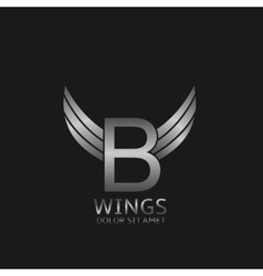 Wings B letter logo vector image vector image