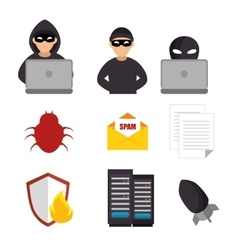 System threats concept icons vector