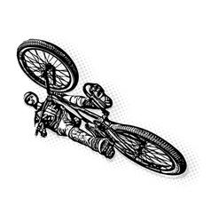 Jumping bmx biker vector