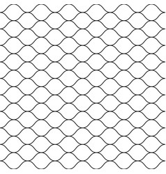 Seamless pattern thin wavy lines mesh texture vector