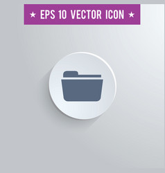 File folder symbol icon on gray shaded background vector