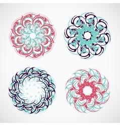 Circle ornaments vector