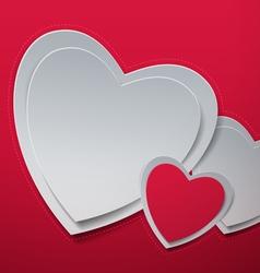 Valentines day hearts cut out from paper vector