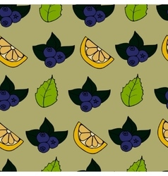 Cartoon seamless pattern with berry vector