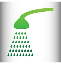 Shower simple icon vector