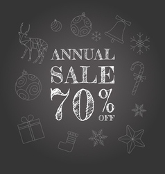 Annual sale background vector image vector image