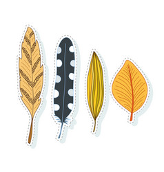Autumn leaves decoration collection for season vector