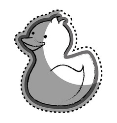 baby ducky toy isolated icon vector image