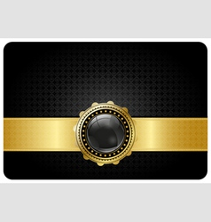 Black vip card vector image vector image