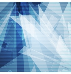 Blue abstract geometric technology background vector
