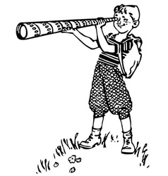 boy with spyglass vector image vector image