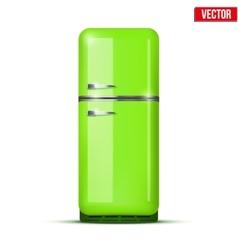 Classic Fridge refrigerator isolated on white vector image