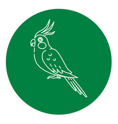 Corella parrot icon in thin line style vector
